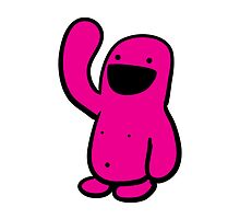 Pink Happyman iPhone Case by Andre Gascoigne