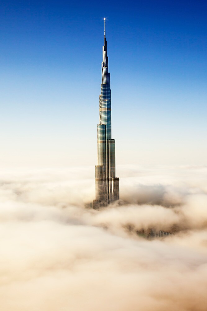 Burj Khalifa in the Clouds by DubaiPictures