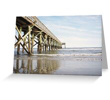 Pier into The Atlantic Greeting Card