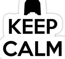 KEEP CALM and LAUNCH A ROCKET Sticker