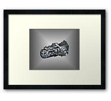 3D ENGINE Framed Print
