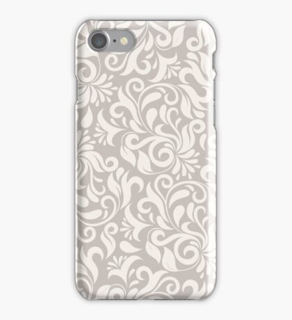 Biege Flower Vine Pattern iPhone Case/Skin