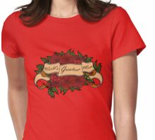 Mothers Day Roses Womens Fitted T-Shirt
