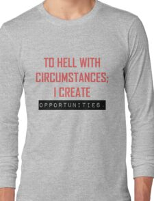 Opportunities - Red & Black Long Sleeve T-Shirt