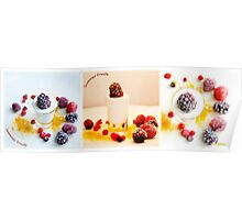 Summer fruits dessert Poster