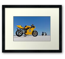 Ducati Supersport 900 and Ducati SS 900 on the salt Framed Print