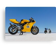 Ducati Supersport 900 and Ducati SS 900 on the salt Canvas Print