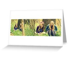 chatting in the woods montage  Greeting Card