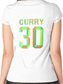 STEPH CURRY COLOR FRESH PRINCE 30 Women's Fitted Scoop T-Shirt