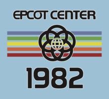 Epcot 1982 Black Letters Retro by AngrySaint