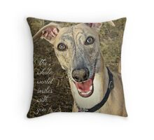 """""""When Your Smiling"""" Throw Pillow"""