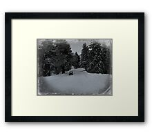 Remembering the winter of 2013. Framed Print