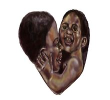 Black mother heart  by Agy Wilson