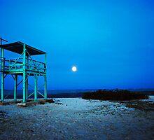 Moonrise on the Beach by emilyduwan