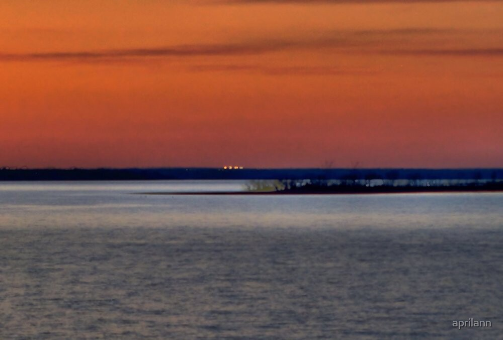 Sunset Over Lake Texoma by aprilann