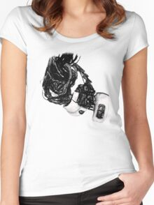 GlaDos Free Draw Women's Fitted Scoop T-Shirt