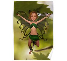 Fairy in Free-Fall Poster