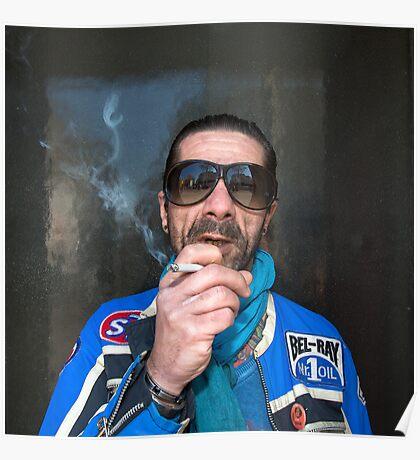 Man in Paris Street Poster