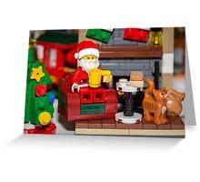 Santa enjoying a cup of java Greeting Card