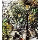 Montmartre 2 in colour by Tatiana Ivchenkova