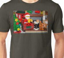 Santa enjoying a cup of java Unisex T-Shirt