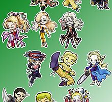 Final fantasy 6 chibi by meomeo
