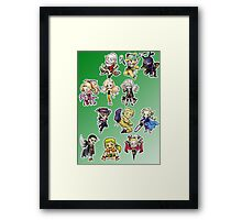Final fantasy 6 chibi Framed Print