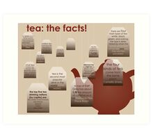 tea: the facts! Art Print