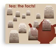 tea: the facts! Canvas Print