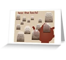 tea: the facts! Greeting Card