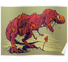 Zombie T-Rex Poster