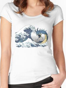 The Great Wave off Mt. Moon Women's Fitted Scoop T-Shirt