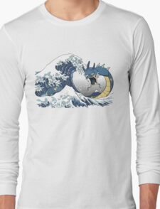The Great Wave off Mt. Moon Long Sleeve T-Shirt