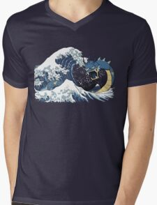 The Great Wave off Mt. Moon Mens V-Neck T-Shirt