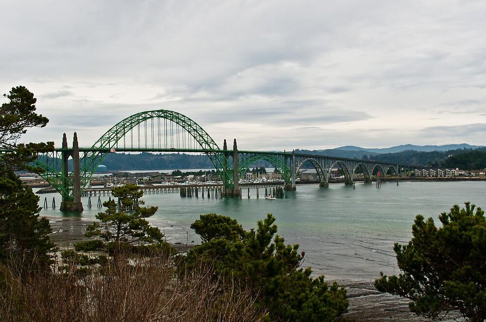 Bridge, Newport Oregon by Robert  Miner