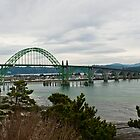 Bridge, Newport Oregon by Robert  Miner