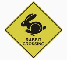 Rabbit Crossing Traffic Sign 1 by GET-THE-CAR