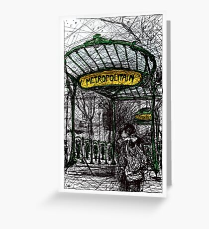 Montmartre 4 in colour Greeting Card