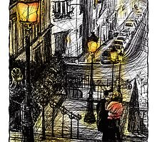 Montmartre 8 in colour by Tatiana Ivchenkova