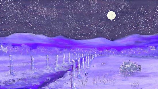 Cold Winter Night  by EllieTaylorArt