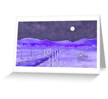 Cold Winter Night  Greeting Card