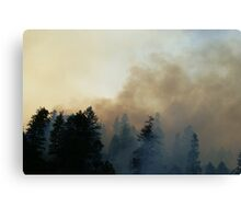 Fire in Moutains Canvas Print