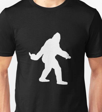 Bigfoot Flips The Bird Unisex T-Shirt