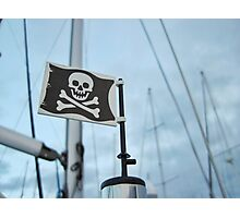 Windy day pirate flag Photographic Print