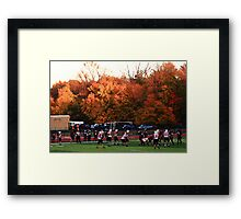 "Autumn Football with ""Dry Brush"" Effect Framed Print"