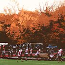 Autumn Football with &quot;Cutout&quot; Effect by Frank Romeo