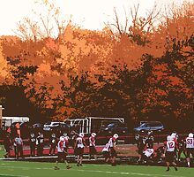 "Autumn Football with ""Cutout"" Effect by Frank Romeo"