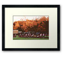 "Autumn Football with ""Cutout"" Effect Framed Print"