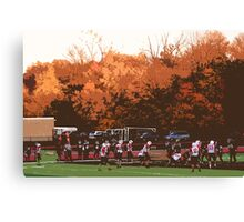 "Autumn Football with ""Cutout"" Effect Canvas Print"