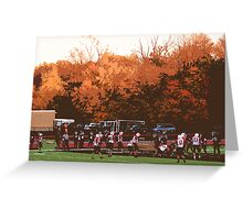 "Autumn Football with ""Cutout"" Effect Greeting Card"